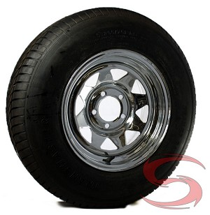 ... Trailer Wheel, 5x4.50 Lug with ST205/75R15 Import Radial Trailer Tire