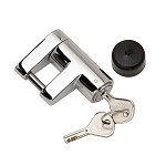 Bulldog Chrome Lifetime Trailer Coupler Lock - 1/4 in Pin Diameter #580403